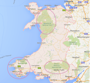 Karte Wales