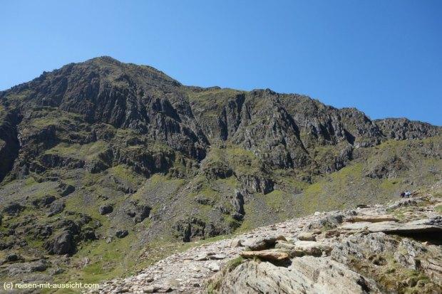 Snowdon_Miners Track Blick zum Gipfel