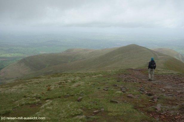 Brecan Beacon Wanderung zum Pen Y Fan Rundweg