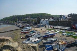 Conwy_Stadtmauer Hafen