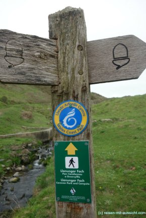 St. Davids_Coastal Path nach New Gale Markierung